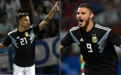 Icardi-Dybala, primi gol con l'Argentina. VIDEO