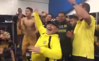 Maradona in finale playoff: festa Dorados. VIDEO