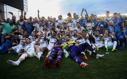 Brasile, Palmeiras campione: festa per Felipe Melo