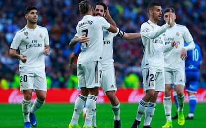 Goleada Real, 6-1 al Melilla in Coppa. I risultati