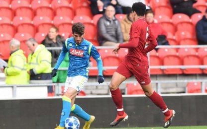 Youth League, batosta Napoli: 5-0 col Liverpool