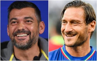 """Roma-Porto, S. Conceiçao a Totti: """"Forza Lazio"""""""