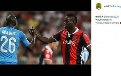 """Balotelli a Koulibaly: """"Sono con te, fratello"""""""