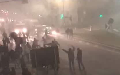 Inter-Napoli, il video amatoriale degli scontri
