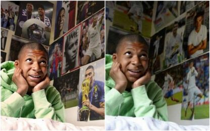 """Mbappé """"cancella"""" CR7? Ora in camera le sue foto"""