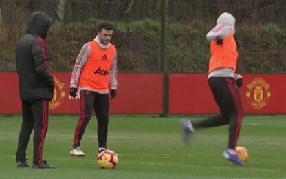 Pepito si allena con lo United, VIDEO esclusivo