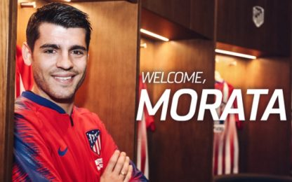 Atletico Madrid, arriva Morata: è ufficiale