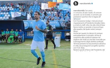 """Borriello saluta l'Ibiza: """"Risolto il contratto"""""""