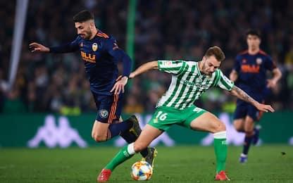 Coppa del Re, semifinali: Betis-Valencia 2-2