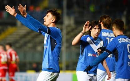 Il Brescia si riprende la vetta, Carpi battuto 3-1