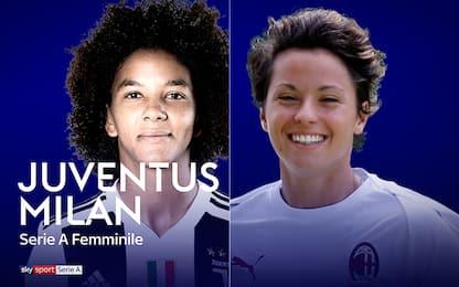 Calcio femminile, oggi sfida scudetto Juve-Milan