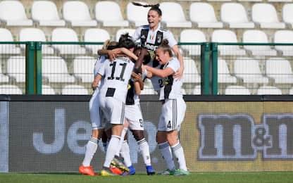 Serie A femminile, Juve: 2-0 al Milan e 1° posto