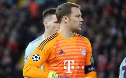 Neuer, ad Anfield porta inviolata e record tocchi