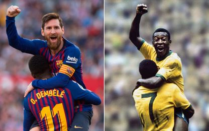 """Pelé omaggia Messi: """"Storia rara, ti ammiro"""""""