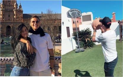 Dybala, relax e basket a Siviglia con Oriana