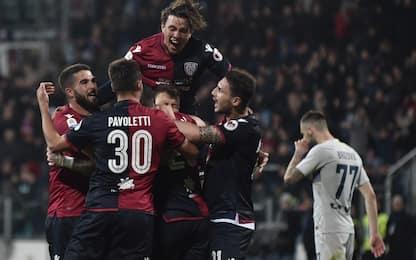 Inter ko 2-1 a Cagliari: terzo posto a rischio