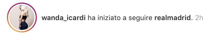 Instagram, Wanda Nara ha cominciato a seguire il Real Madrid
