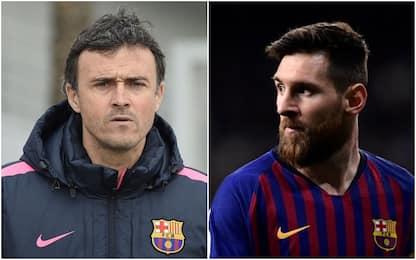 """L. Enrique: """"Al Barça ho avuto problemi con Messi"""""""