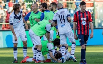 Brescia, rimonta 3-2 a Cosenza. Derby al Lecce