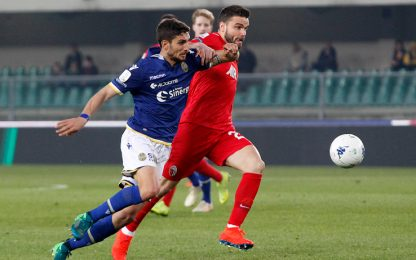 Verona, Pazzini non basta: solo 1-1 con l'Ascoli