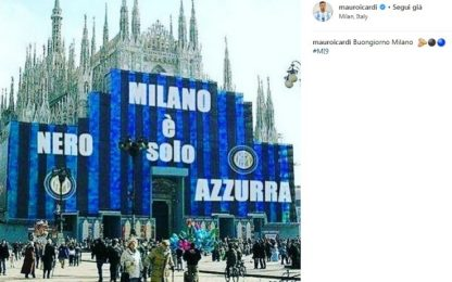 Icardi festeggia il derby su Instagram. FOTO