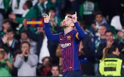 Messi da favola: lo stadio del Betis applaude