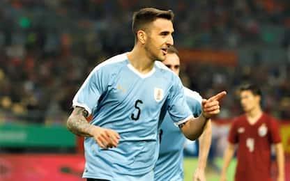 Inter, Vecino-gol anche con l'Uruguay