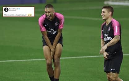 Mbappé prende in giro Verratti dopo il gol