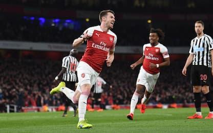 Ramsey-gol, Newcastle ko: Arsenal al 3° posto