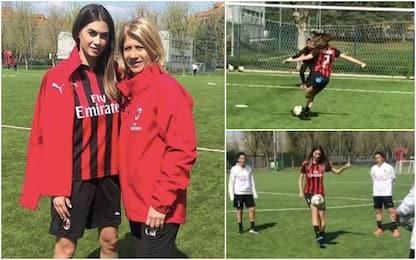 Melissa Satta, gol e sorrisi col Milan femminile