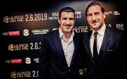 Totti contro Figo: a Roma la Notte dei Re