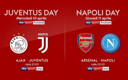"Su Sky Sport ""Juve Day"" e ""Napoli Day"""