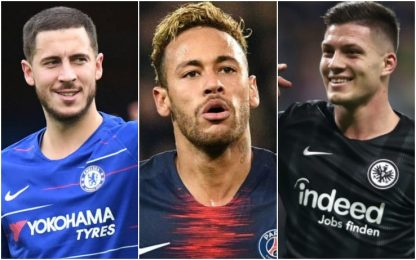 Hazard-Neymar-Jovic, sarà mercato Real per Zidane
