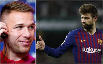 """Arthur vota Piqué: """"E' alto e bello"""""""
