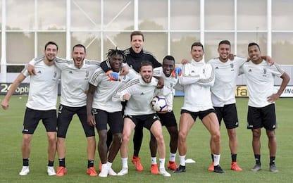 La Juve torna ad allenarsi: c'è Chiellini
