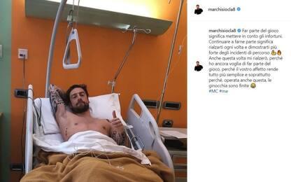 """Marchisio, ginocchio ko: """"Mi rialzerò ancora"""""""