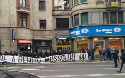 Ultras choc: striscione per Mussolini a Milano