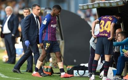 Barça, infortunio per Dembélé: Liverpool a rischio