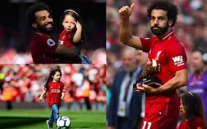 Salah capocannoniere: che show con la figlia!