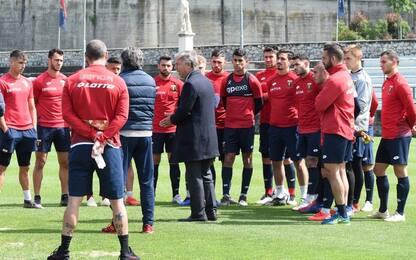 Preziosi carica il Genoa, discorso pre-allenamento
