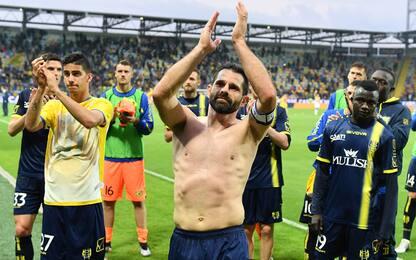Frosinone-Chievo 0-0, Pellissier saluta il calcio