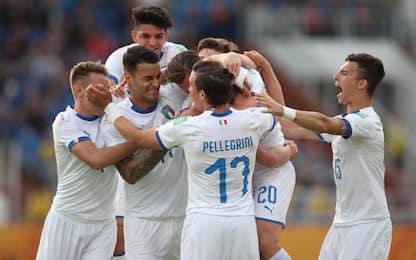 Pinamonti-gol, Plizzari super: Italia agli ottavi