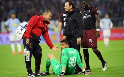 Milan, lesione al bicipite femorale per Donnarumma
