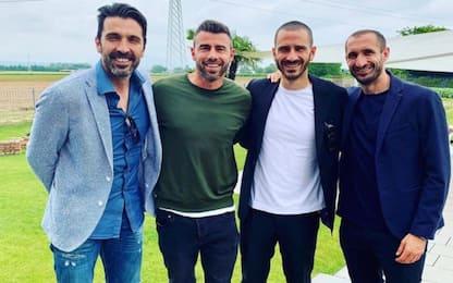 """Buffon ritrova la BBC: """"Amici di una vita"""""""