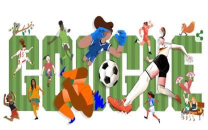 Il Doodle di Google dedicato ai Mondiali femminili