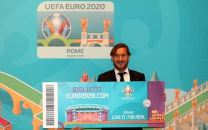 Euro 2020, Totti testimonial per vendita biglietti
