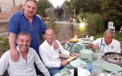 Allegri e Giampaolo, cena insieme a Galeone. FOTO