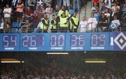 Amburgo, tempo scaduto: via il timer dallo stadio