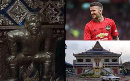"Beckham ""buddista"": diventa una statua a Bangkok"