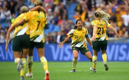 Australia ribalta Brasile, oggi Italia-Giamaica
